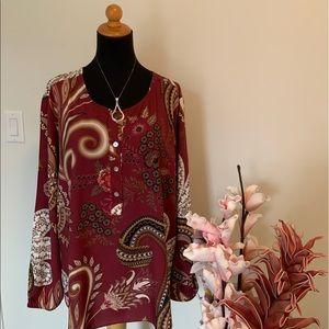 M made in ITALY Paisley shirt size XL